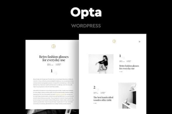 قالب وردپرس عکاسی و پورتفلیو Opta - Minimal Portfolio and Photography Theme