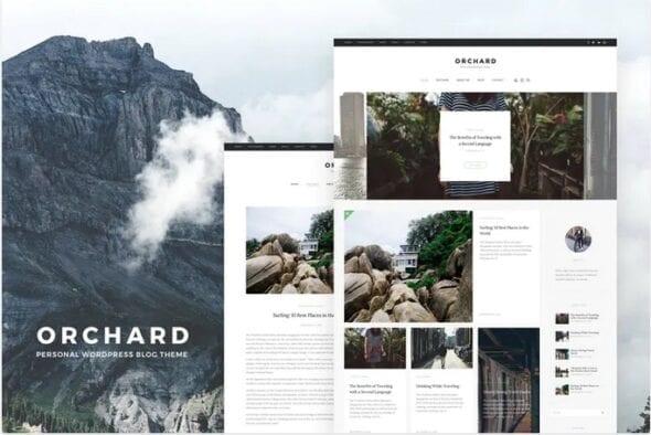 پوسته وردپرس بلاگ Orchard - Personal WordPress Blog Theme