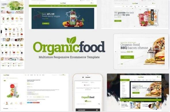 قالب فروشگاه محصولات ارگانیک OrganicFood - Food, Alcohol, Cosmetics OpenCart