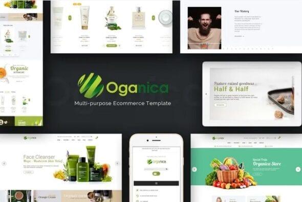 قالب فروشگاه لوازم آرایشی و زیبایی ارگانیک Organica - Organic, Beauty, Natural Cosmetics