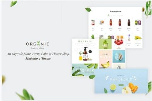 قالب فروشگاه گل و گیاه Organie - Organic Store, Farm, Cake, Flower Theme