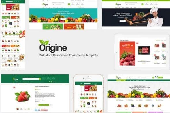 قالب فروشگاه محصولات ارگانیک Origine - Organic Opencart Theme
