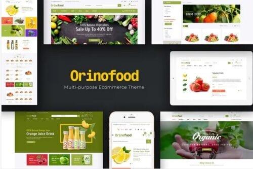 قالب فروشگاه محصولات ارگانیک Orinofood - Organic Opencart Theme