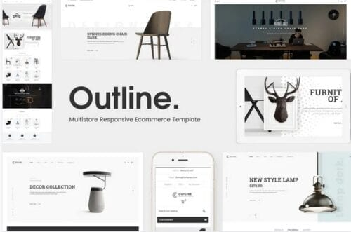 قالب فروشگاه مبلمان و دکوراسیون داخلی Outline - Responsive Furniture Magento Theme