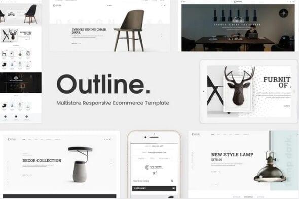 قالب فروشگاه مبلمان و دکوراسیون داخلی Outline - Responsive Furniture Opencart 3.x Theme