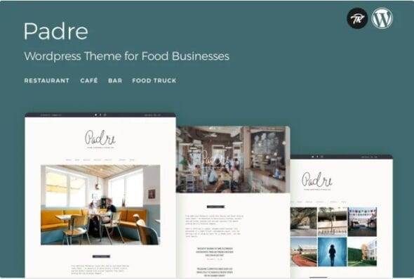 قالب وردپرس رستوران و کافه Padre - Cafe & Restaurant WordPress Theme
