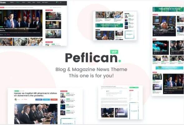 قالب وردپرس خبری مجله ای Peflican - A Newspaper & Magazine WordPress Theme