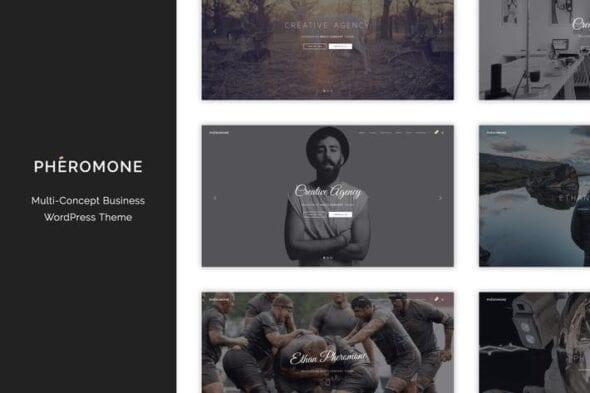 قالب وردپرس تجاری Pheromone - Creative Multi-Concept WordPress Theme
