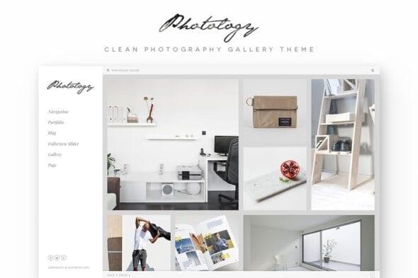 پوسته وردپرس گالری Photology - Clean Photography Gallery WP Theme