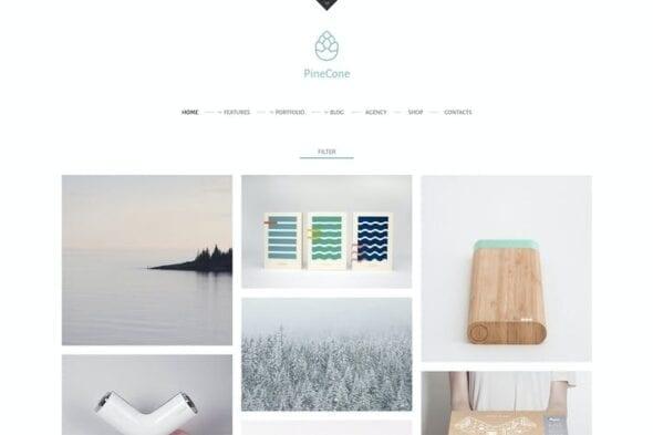 پوسته وردپرس بلاگ و پورتفولیو PineCone - Creative Portfolio and Blog for Agency