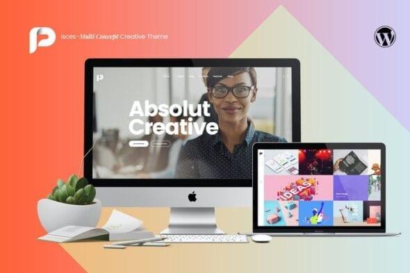 قالب وردپرس شرکتی Pisces - Multi Concept Creative Theme