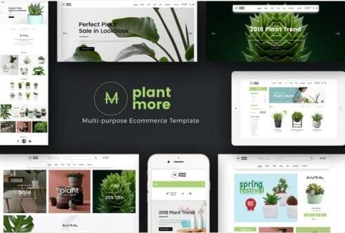 قالب فروشگاه گل و گیاه زینتی Plantmore - OpenCart Theme