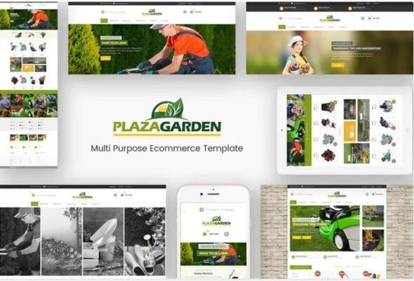 قالب فروشگاه لوازم و تجهیزات باغبانی PlazaGarden - Responsive Magento Theme