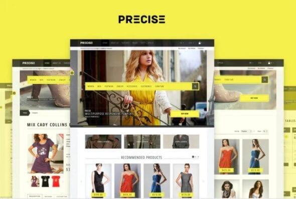 قالب فروشگاه مد و فشن Precise — Multipurpose Responsive OpenCart Theme