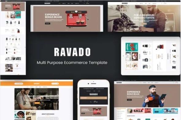 قالب فروشگاه قهوه و لوازم کافی شاپ Ravado - Coffee Shop Opencart Theme