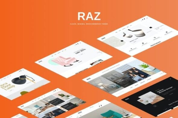 قالب وردپرس فروشگاهی Raz - Clean, Minimal WooCommerce Theme