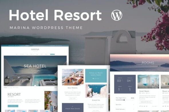 قالب وردپرس هتل و رزرواسیون Resort Hotel WordPress Theme