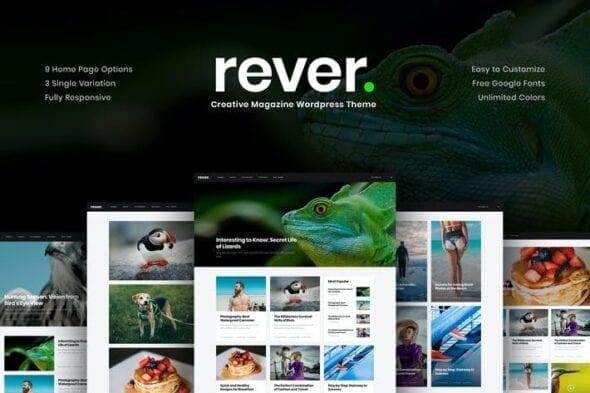 قالب وردپرس خبری Rever - Clean and Simple WordPress Theme