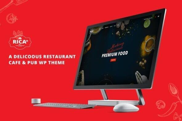 قالب وردپرس رستوران و کافی شاپ Rica Plus - A Delicious Restaurant, Cafe & Pub WP