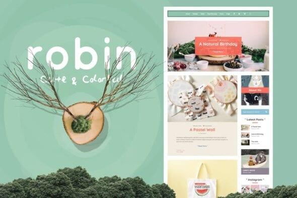 قالب وردپرس بلاگ Robin - Cute & Colorful Blog Theme