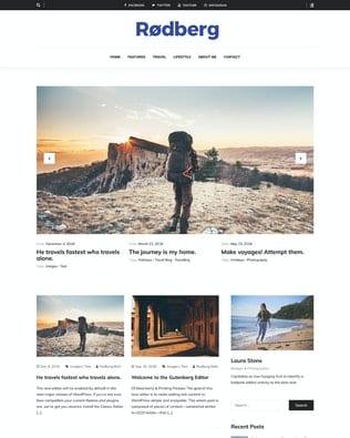 قالب وردپرس بلاگ Rodberg - Travel Blogging Theme
