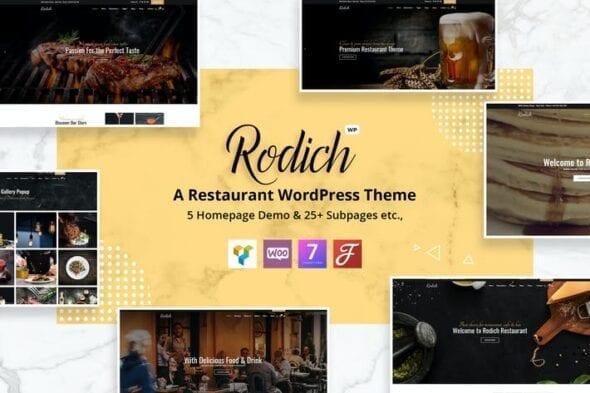 قالب وردپرس رستوران Rodich - A Restaurant WordPress Theme