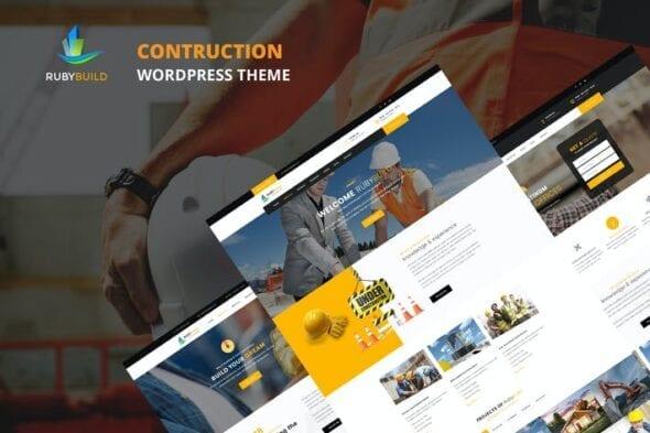 قالب وردپرس ساختمانی عمرانی RubyBuild – Building & Construction WordPress Them