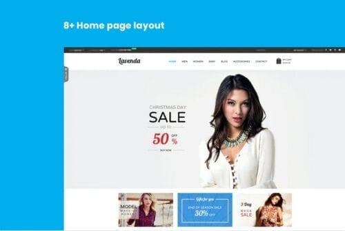 قالب فروشگاه مد و فشن SNS Lavenda - Responsive Magento Theme