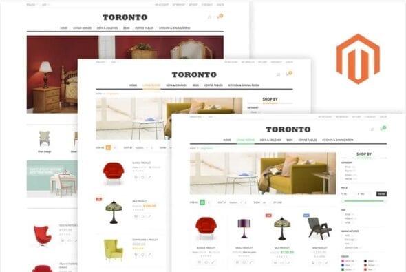 قالب فروشگاه مبلمان و دکوراسیون داخلی SNS Toronto - Premium Responsive Magento Theme