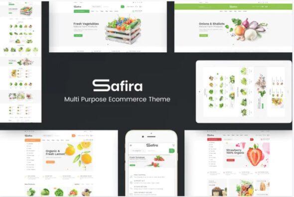قالب فروشگاه مواد غذایی ارگانیک Safira - Responsive OpenCart Theme