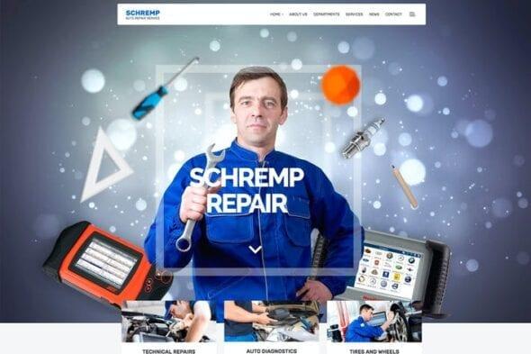 قالب وردپرس مکانیک و سرویس خودرو Schremp - Mechanical Wordpress