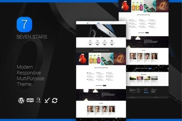 قالب وردپرس چندمنظوره Seven Stars - Modern Responsive MultiPurpose Theme