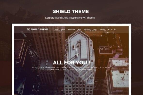 قالب وردپرس شرکتی و تجاری Shield - Creative Responsive Wordpress Theme