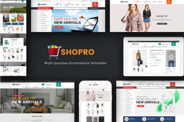 قالب فروشگاه مد و فشن Shopro - Mega Store Responsive Magento Theme