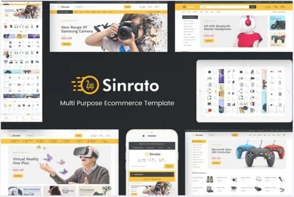 قالب فروشگاه لوازم الکترونیک و دیجیتال Sinrato - Mega Shop Responsive Magento Theme