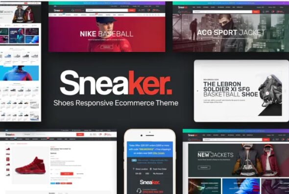 قالب فروشگاه وسایل ورزشی و بدنسازی Sneaker - Color Swatches OpenCart Theme