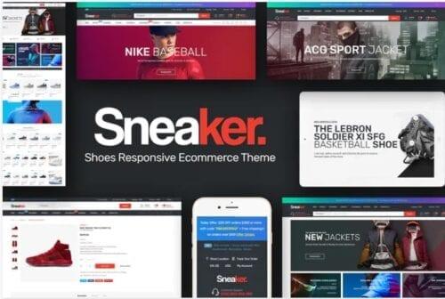 قالب فروشگاه لوازم ورزشی Sneaker - Shoes Responsive Magento Theme