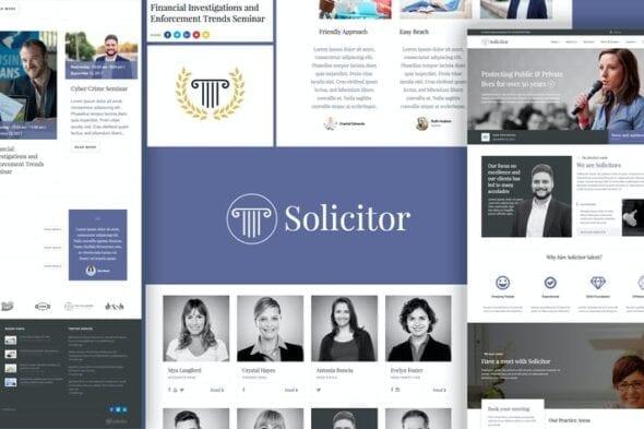 پوسته وردپرس وکالت و مشاوره حقوقی Solicitor Law Business Responsive WordPress Theme
