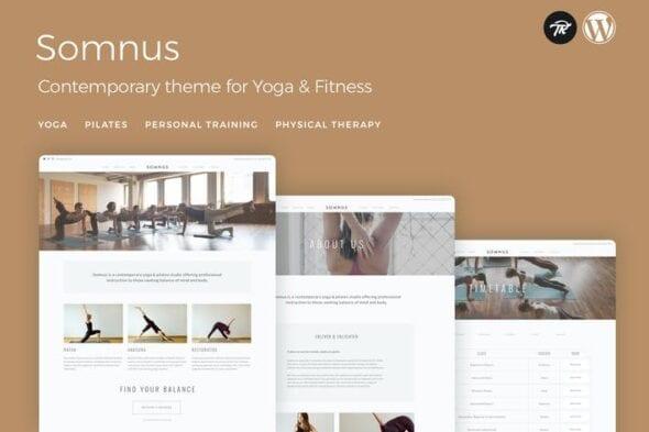 پوسته وردپرس باشگاه بدنسازی و یوگا Somnus - Yoga & Fitness Studio WordPress Theme