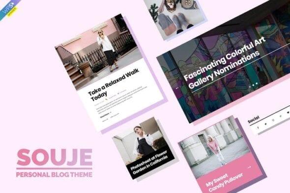 قالب وردپرس بلاگ شخصی Souje - Personal WordPress Blog Theme