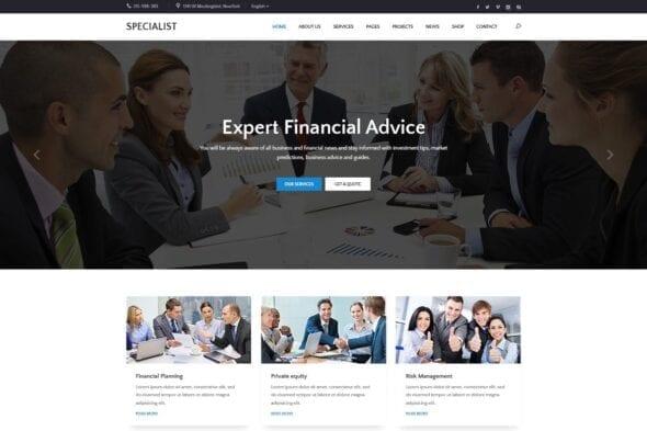 پوسته وردپرس مشاوره تجاری Specal - Financial, Consulting WordPress Theme