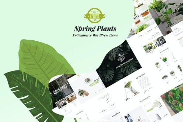 پوسته وردپرس باغبانی و گیاهان آپارتمانی Spring Plants - Gardening & Houseplants WordPress