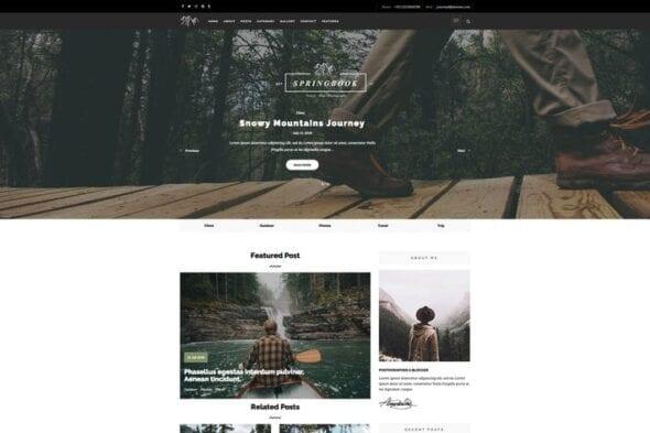 پوسته وردپرس بلاگ Springbook - Blog Travel Photography WP Theme