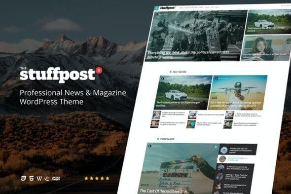 قالب وردپرس خبری مجله ای StuffPost - Professional News & Magazine WordPress