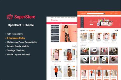 قالب فروشگاهی SuperStore - Responsive OpenCart 3 Theme
