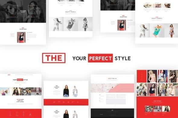 پوسته وردپرس فشن و زیبایی The Fashion Model Agency One Page Beauty WP Theme