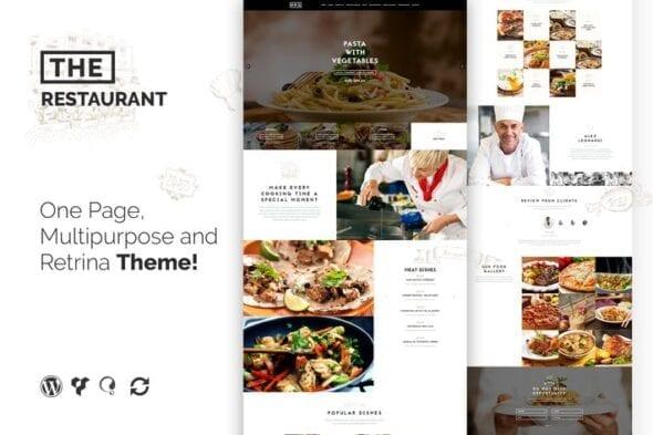 قالب وردپرس رستوران و تهیه غذا The Restaurant Restauranteur and Catering WP Theme