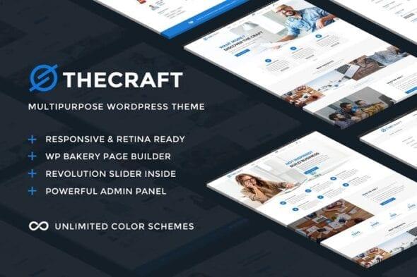 پوسته وردپرس چندمنظوره TheCraft - Responsive Multipurpose WordPress Theme
