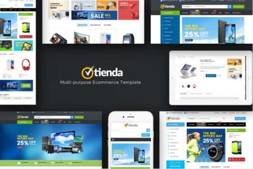 قالب فروشگاه لوازم دیجیتال و الکترونیک Tienda - Technology OpenCart Theme