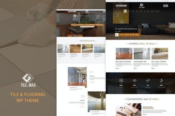قالب وردپرس کاشی و کفپوش Tile Max - Tile & Flooring WP Theme